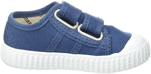 Victoria Basket Lona Dos Velcros - Primeros Pasos de Lona Bebé-Niños, azul ( Bleu (Baltic)