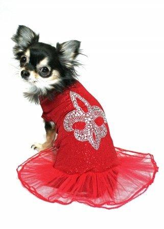 Hip Doggie HD-3RBD-S Small Red Ballerina Dress