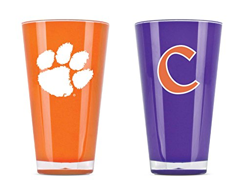 NCAA Clemson Tigers 20oz Insulated Acrylic Tumbler Set of 2 -