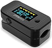 Santamedical Dual Color OLED Pulse Oximeter Fingertip, Blood Oxygen Saturation Monitor (SpO2) with Case, Batte