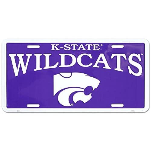 (6x12) Kansas State K-State Wildcats NCAA Tin License Plate free shipping