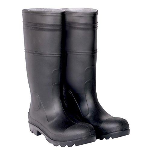 Tilpasset Leather Clc Arbeid Utstyr R23007 Svart Pvc Regn Støvler 11