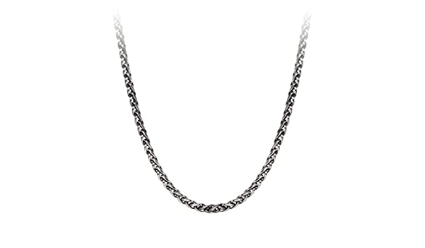 """1.7mm 925 Sterling Silver 20/"""" Oxidized Curb Rope Chain"""