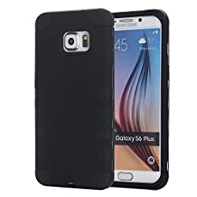 Galaxy S6 Edge+ Case, Pandawell™ 3-piece Hybrid Defender High Impact Body Armor Hard PC & Silicone Rubber Case Protective Cover for Samsung Galaxy S6 Edge Plus (Black)