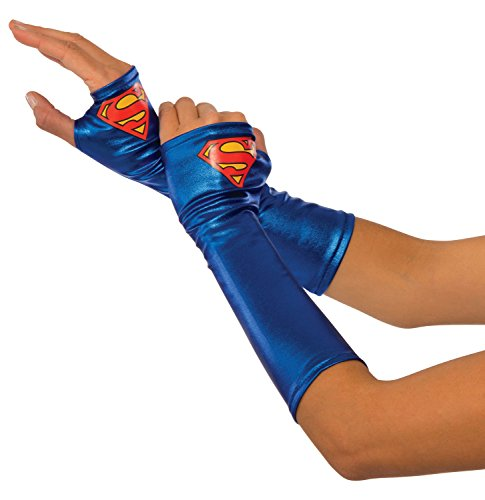 Rubie's Costume Co Women's DC Superheroes Supergirl Gauntlets, Multi, One (Supergirl's Costume)
