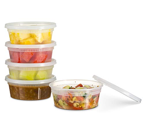 Basix Deli Food Storage Container with Lids 8 Ounce 24 Pack