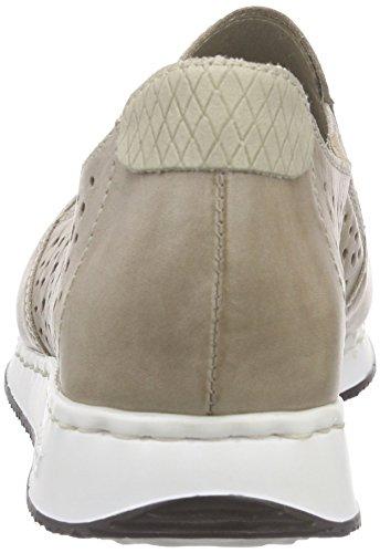 Loafers 56065 Rieker Grau Slipper Champignon Women Damen 42 Steel 6p7nPqH