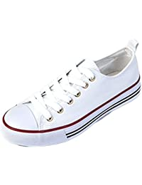 Kids Sneakers Tie up Slip on Canvas Laces Children- Girls...