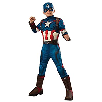 Rubie's Costume Avengers 2 Age of Ultron Child's Deluxe Captain America Costume, Medium: Toys & Games