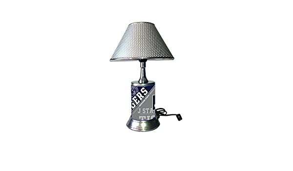 Jackson State Tigers JSU Plate Rolled in on The lamp Base Table Lamp with Shade