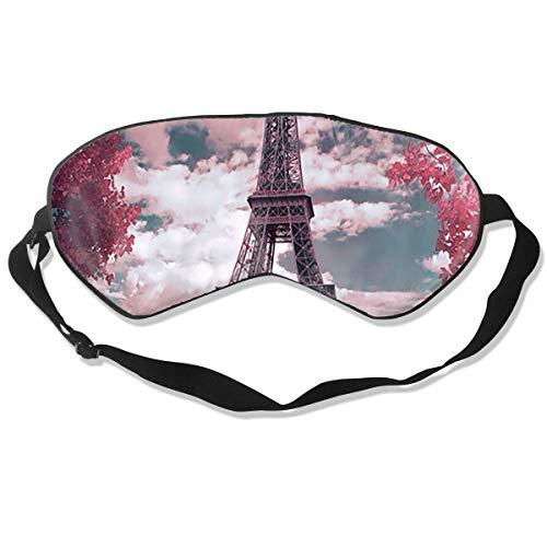 ZHENHUN Paris Eiffel Tower Silk Sleep Eye Mask Shade Best Sleeping Eye Cover for Travel Nap Full Night¡¯s Sleep Super Soft with Adjustable Strap]()