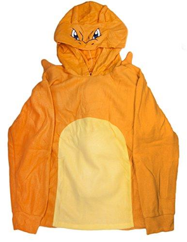 Sunset Intimates Pokemon Power Charizard Hoodie, Orange, (Charizard Costume For Adults)