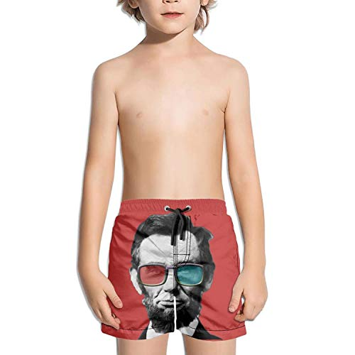 - JIONONDS Abraham Lincoln Posters Glasses Kids Quick Dry Core Retro Swimming Trunks Shorts