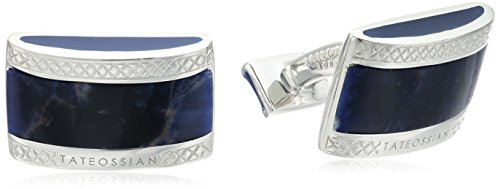 Tateossian-Signature-D-Shape-Sodalite-Double-Ended-Cuff-Link
