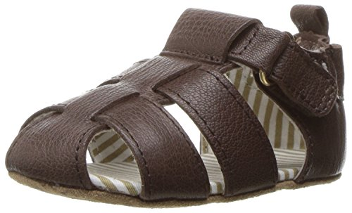 Image of Robeez Boys' Samuel Sandal - First Kicks, Espresso, 6-9 Months M US Infant