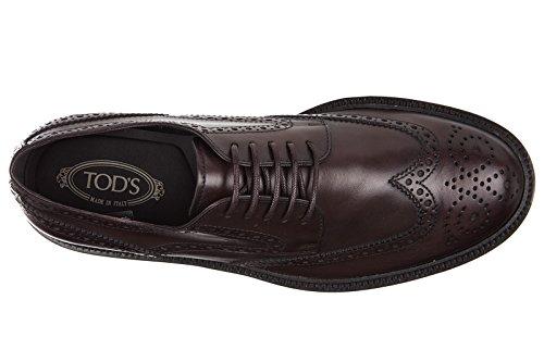 Tods Chaussures à Lacets Classiques Homme en Cuir Derby bucature Fashion Extral