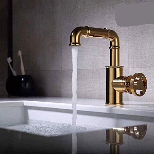 CLJ-LJ バスルームのシンクは、スロット付き浴室の洗面台のシンクホットコールドタップミキサー流域の真鍮シンクミキサータップ非震とう浴室水栓スリーホール蛇口のホテル家庭流域の蛇口浴室の蛇口をタップ