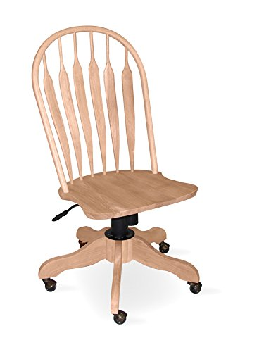 ts Unfinished Steambent Windsor Office Chair ()