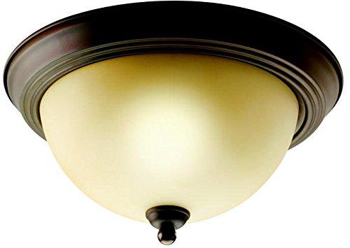 Kichler Brass Flush Mount Lighting - Kichler 8108OZ Flush Mount 2-Light, Olde Bronze