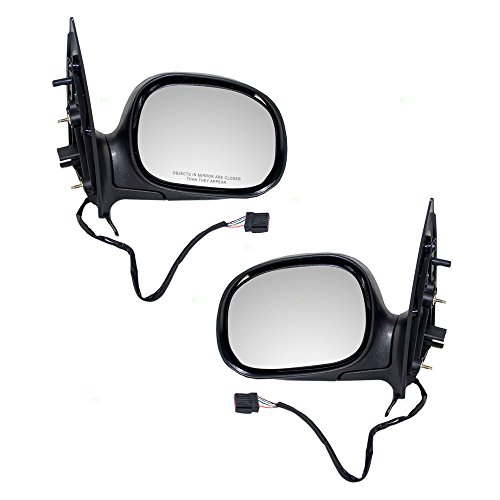 Driver and Passenger Power Side View Mirrors Heated Replacement for Ford Expedition F85Z17683HAB F85Z17682HAC