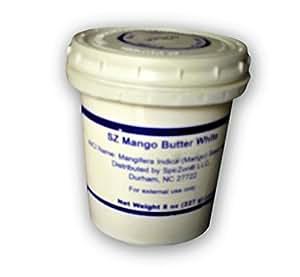 Mango Butter White Raw 8 Oz by SpirZon LLC