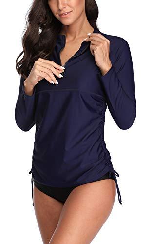 V FOR CITY Damen UV Shirt Rash Guard Badeshirt Top UPF 50+
