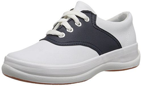 Keds boys School Days II Sneaker ,White/Navy,13 M US Little Kid
