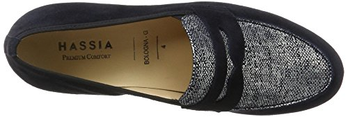 Hassia Women's Bologna, Weite G Moccasins Blue (Ocean)