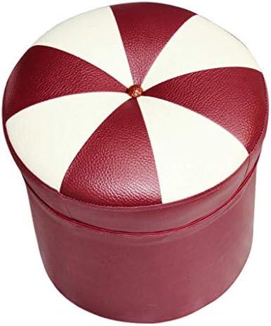 YXDEW Tabouret Style européen Canapé - Petite Ronde Chaussures Bench Salon Creative Cuir Pier 38 Repose-Pieds * 38 * 38cm Chaise
