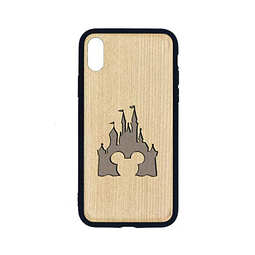 Cinderella Castle Clipart - iPhone Xs MAX CASE - Maple Premium Slim & Lightweight Traveler Wooden Protective Phone CASE - Unique, Stylish & ECO-Friendly - Designed for iPhone Xs MAX