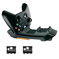 Dual Charging Station for Xbox One Controllers Charger Stand Dock Station with Two Super Fast Rechargeable 600mAh Batteries Packs and USB Cable Charging Stand for Xbox One S Controller Video Games