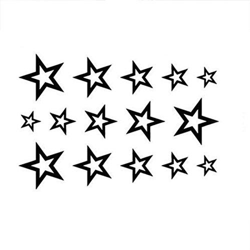 Waterproof Temporary Tattoo Sticker Stars Tattoo Water Transfer Fake Tattoo Flash Tattoo For Men Girl10.56CM