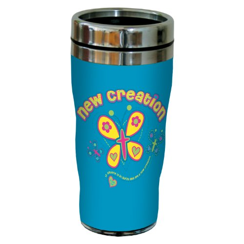Tree-Free Greetings sg24301 New Creation: 2 Corinthians 5:17 Sip 'N Go Stainless Steel Lined Travel Tumbler, 16-Ounce