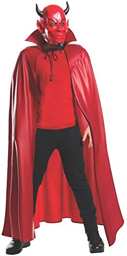 Rubie's Men's Scream Queens Deluxe Red Devil 3/4 Mask and Cape Set, Standard ()