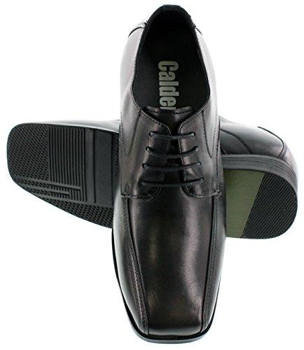 Calden - K0286 - 2,8 Inch Groter - In Hoogte Toenemende Schoenen Voor Heren (zwarte Veterschoen Vierkante Neus)