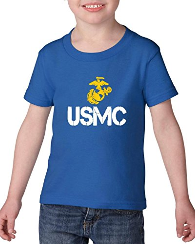 ARTIX USMC US Marine Corps People Fashion Clothing Best Friend Xmas Mothers Day Gifts Heavy Cotton Toddler Kids T-Shirt Tee Clothing 4T Royal Blue
