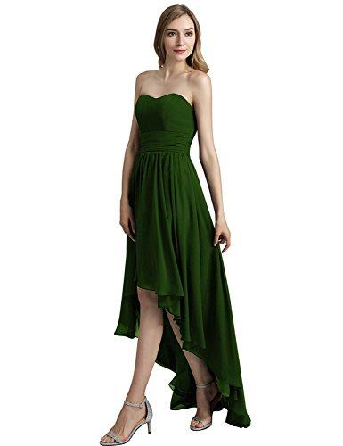 Belle Maison Balle Haute Partie Basse Cocktail Robe 2018 Robes De Bal Pour Les Femmes Avec Des Perles Sd417-vert Foncé