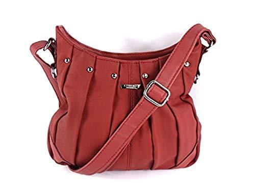 Rosso Tela Emporim Mujer Bolso De Rojo Leather Para xt1w0UdUq