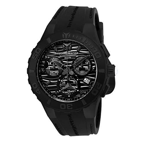 Technomarine Men's TM-115082 Cruise Medusa Swiss All Black Watch (Men Technomarine Watch)