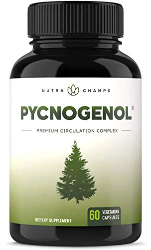 Pycnogenol Pine Bark 200mg Complex – Premium Supplement for Circulation, Blood Flow & Nitric Oxide Production – Superior Absorption & Results with Black Pepper Extract