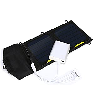 7w Foldable Solar Panel Portable Solar Charger for Iphone, Ipod, Samsung Galaxy Series Phones and Other Android Phones,windows Phones, Bluetooth Speakers, and Many Other 5v Usb-charged Devices