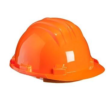 Climax 2451005107000 - Casco de seguridad (polietileno, 6 puntos), color naranja: Amazon.es: Industria, empresas y ciencia