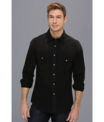 Rock and Roll Cowboy Men's L/S Snap Black 5 X-Large (Rock Shirts Roll Xl And Cowboy)