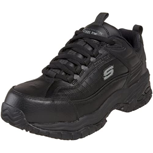 Skechers for Work Men's 76760 Soft Stride Steel-Toe Work Shoe