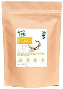 Organic Chamomile Tea - Calming Herbal Tea - Loose Whole Flowers - Caffeine-Free - Bedtime Tea - The Tea Company - Bulk 4oz