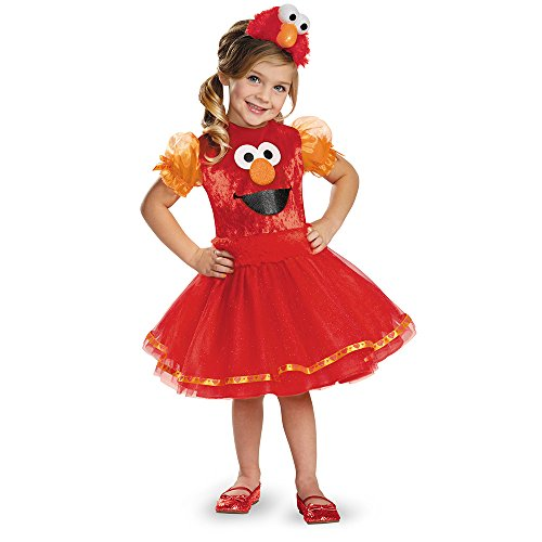 Elmo Tutu Deluxe Costume, Medium (3T-4T) -