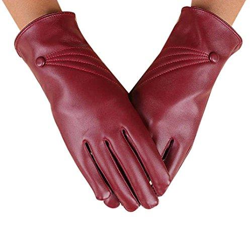 [Touch Screen Gloves, Malltop Women Girl Luxurious PU Leather Super Warm Winter Gloves] (Pretty Little Liars Halloween Costume)