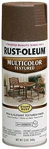 Rust-Oleum 223523 Multi-Color Textured Spray, Autumn Brown, 12-Ounce
