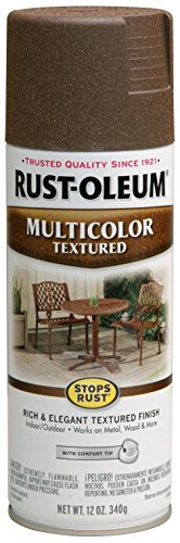 Rust-Oleum 223523 Multi-Color Textured Spray Paint, 12 oz, Autumn Brown