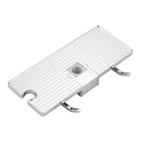 Iulove_Bathroom Products Bathroom Pole Shelf Shower Bath Storage Caddy Rack Organiser Hollow Tray Holder
